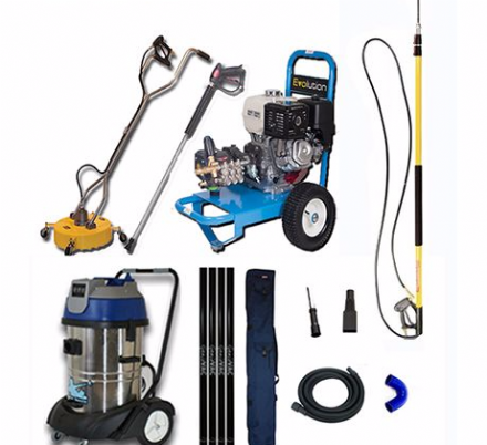 The all in one driveway & gutter cleaning kit